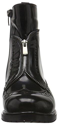 Andrea Conti 1462716, Bottes courtes avec doublure chaude femme Noir - Schwarz (Schwarz 002)