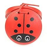 REFURBISHHOUSE1 Stück Kind Kinder Cartoon Holz Kastagnetten Spielzeug Musikalisch Schlagzeug Instrument