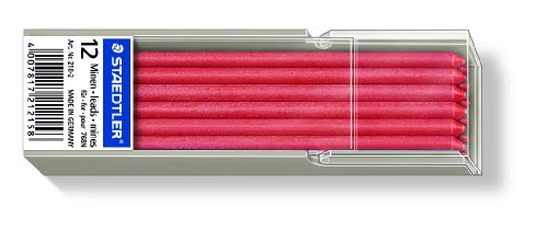 Staedtler 218 Lumocolor non-permanent omnichrom Spezialmine, 12 Stück Etui, rot