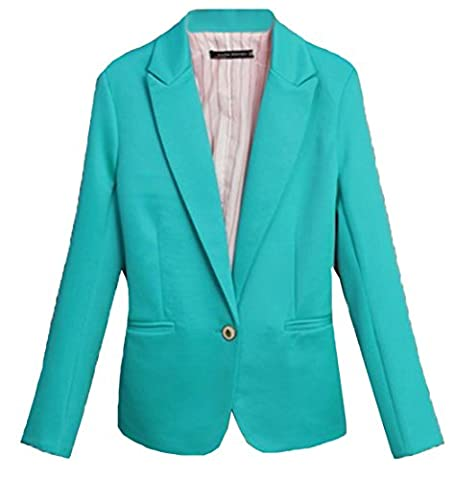 U-shot Women's Lapel Long Sleeve Top Stylish Office Business Slim Blazer Suit Outwear Coat