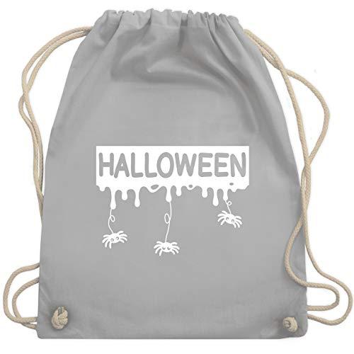 Halloween - Halloween mit Spinnen - weiß - Unisize - Hellgrau - WM110 - Turnbeutel & Gym (Blood Sport Kinder Kostüm)
