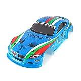 CHANNIKO-DE 1/10 RC Auto Shell Körper für J601-1 1:10 Rennwagen Auto Flache Sport Drift Fahrzeug RTR Spielzeug Teile Muitlcolors