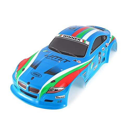 CHANNIKO-DE 1/10 RC Auto Shell Körper für J601-1 1:10 Rennwagen Auto Flache Sport Drift Fahrzeug RTR Spielzeug Teile Muitlcolors (Rc-car-shell)