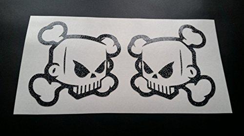skulls-x2-outline-ken-block-hoonigan-glitter-metal-flake-vinyl-car-sticker-decal-graphic-gold-glitte