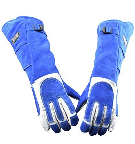 Anti-Biss Tierhandschuhe Weiches Leder Verdicken Kratzfeste Handschuhe Bissfeste Schutzhandschuhe (L)