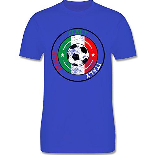 EM 2016 - Frankreich - Italy Kreis & Fußball Vintage - Herren Premium T-Shirt Royalblau