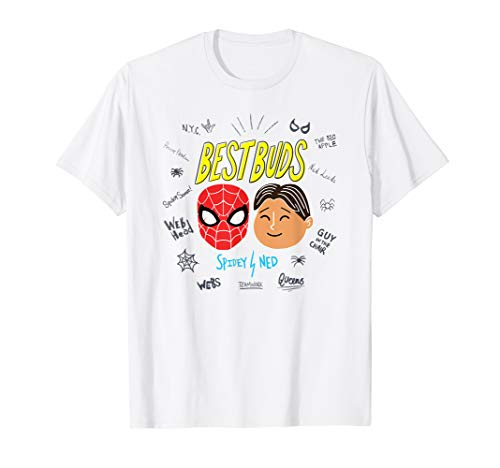 Marvel Spider-Man Far From Home Spidey Ned Best Buds T-Shirt (Spider Woman Shirt)