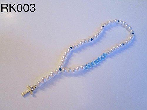 Rosenkranz mit Name, Geschenk zur Geburt, zum Geburtstag oder zur Taufe oder Weihnachten für Baby, Kindern, Erwachsene, Junge, Mädchen, StorWei