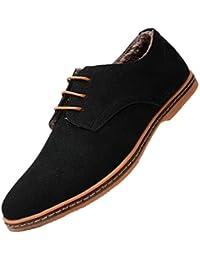 Bebete5858 Supplémentaire notamment Grand Taille 48 Hommes PU Suède Cuir  pour des Hommes Décontractée Chaussures Angleterre be4eed101498