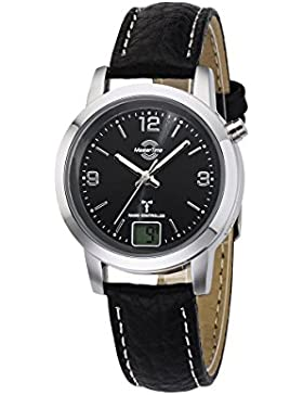Master Time Funk Basic Series Damenuhr MTLA-10297-21L, Leder Armbanduhr Schwarz