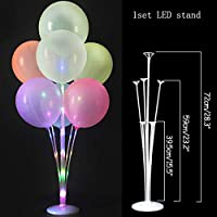 ZINNI-Ballons & Accessories - 70/100/130cm balloon Stand Kids Happy Birthday Party Balloon Stick Holder Wedding Decoration Baloon Accessories Festival Ballon (1set LED stand)