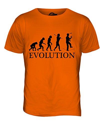 CandyMix Seiltanz Zirkus Evolution Des Menschen Herren T Shirt Orange