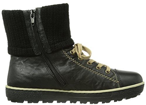 Rieker Z8753-01, Sneaker a collo alto Donna Nero (Schwarz (schwarz/schwarz/schwarz / 01))