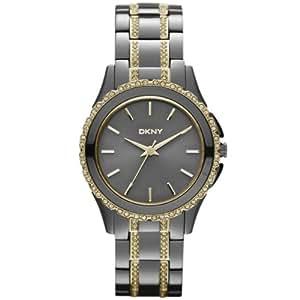 DKNY Damen-Armbanduhr XS Analog Quarz Edelstahl beschichtet NY8700