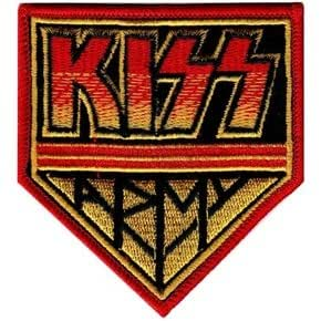 Kiss Army Badge Logo Patch Iron on Sew Applique Embroidered Emblem Ecusson brode patche Patches