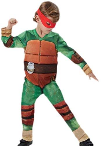 erdbeerloft - Jungen TMNT Ninja Turtle Outfit Karneval Faschingskostüm, 116, Grün