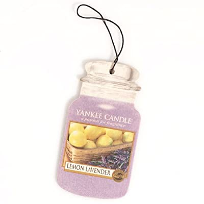 Lemon Lavender Scented Car Jar by Yankee Candles