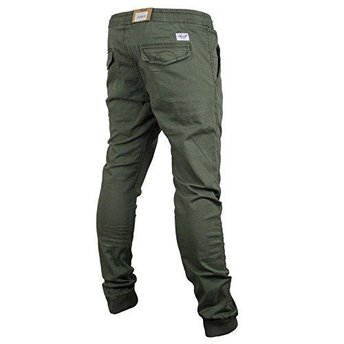 Reflex Hosen (Reell Jeans Herren Hose Reflex Rib Pant Olive Long)