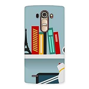 Enticing Creative Desk Multicolor Back Case Cover for LG G4