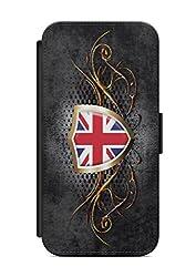 Kompatibel mit Samsung Galaxy A3 2017 Flipcase Handytasche Hülle mit Magnetverschluss auffklappbar England Fahne Flagge