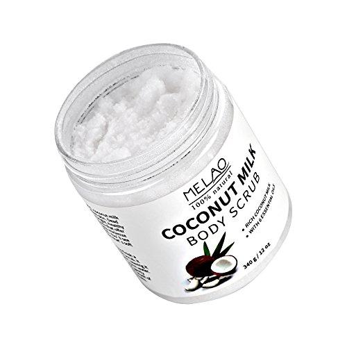 Exfoliador caras leche coco hidratante exfoliante