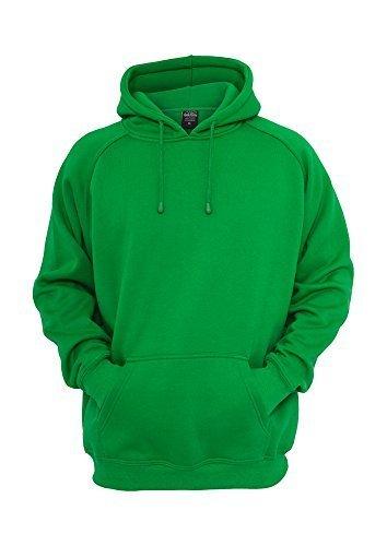 Urban Classics Blank Hoody | Herren Kapuzenpullover in c.green in Größe: 3XL + original Bandana gratis (Green Cotton Bandana)
