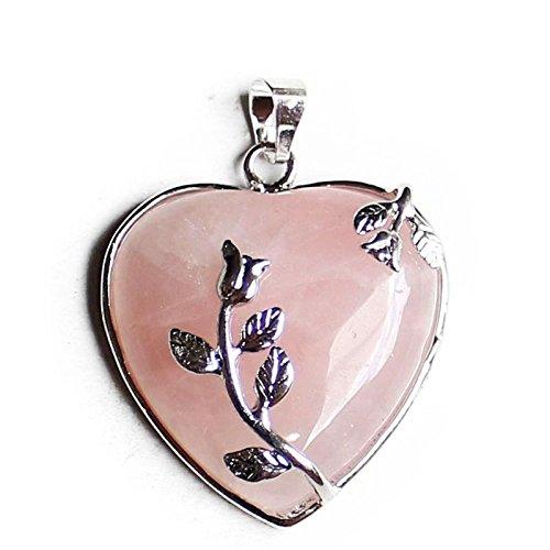 Aituo 1pc cristallo naturale gemma pile reiki guarigione chakra pendolo per collana gioielli fai da te style 1