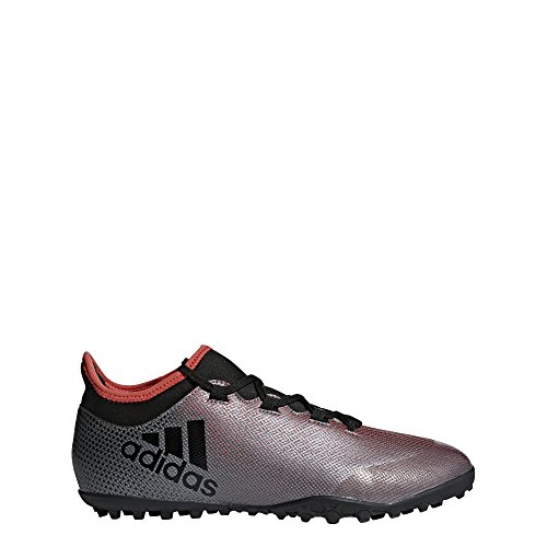 adidas X Tango 17.3 TF, Chaussures de Football Homme Gris (Grey/core Black/real Coral S18)