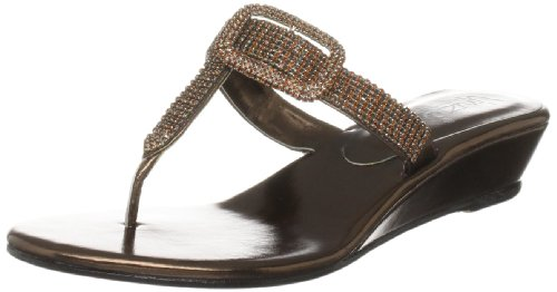Unze Evening Sandals, Sandali col tacco donna Marrone (Braun (L18262W))