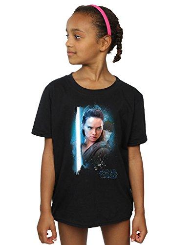 he Last Jedi Rey Brushed T-Shirt 9-11 years Schwarz (Star Wars Jedi Mädchen)