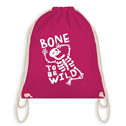 Halloween - Bone to me Wild Halloween Kostüm - Unisize - Fuchsia - WM110 - Turnbeutel & Gym Bag