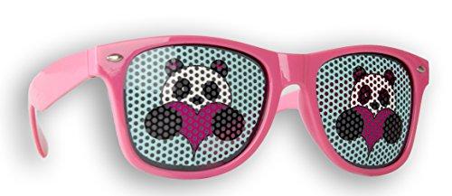 Promo Trade Sonnenbrille Gelb einsame Insel im Wayfarer Stil Retro Unisex Brille UV400 (Panda)