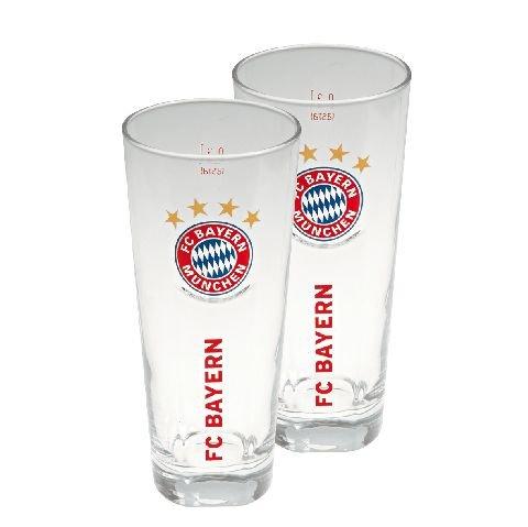 FC Bayern München Fanglas 2er Set 0,3 l Bayern Tee-set