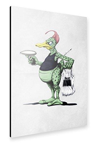 artboxONE Alu-Print 150x100 cm Space Duck von Künstler Rob Snow -