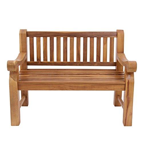 Trueshopping Kingsbridge Garten Bank – Teak Holz Klassische Design Zwei Sitzbank - 4