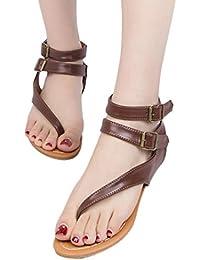 feiXIANG frauen Flach sandalen im sommer Damen Strappy flip - flops beach Slingback sandals schuhe