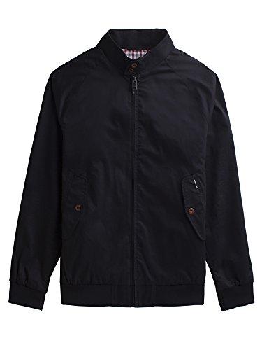 Ben Sherman Herren New Core Harrington Jacke, Schwarz (Black 290), XXX-Large
