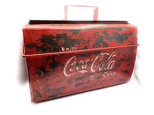 Flippi Alte Cola Kühlbox Patina Metall Nostalgic Art Retro 46 x 22 x37 cm