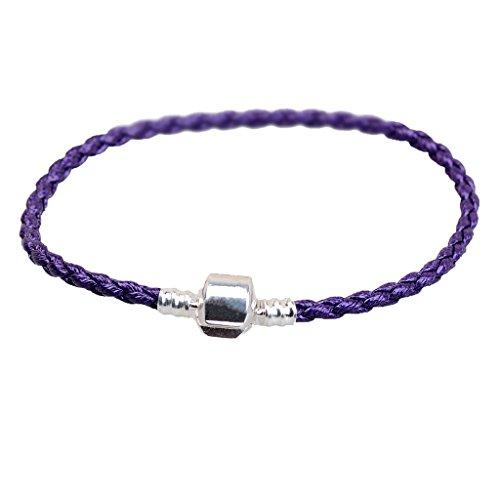 Baoblaze 1 Stück Unisex Leder-Armband Armreif, Freundschaft Geschenk, Schmucksachen - Lila