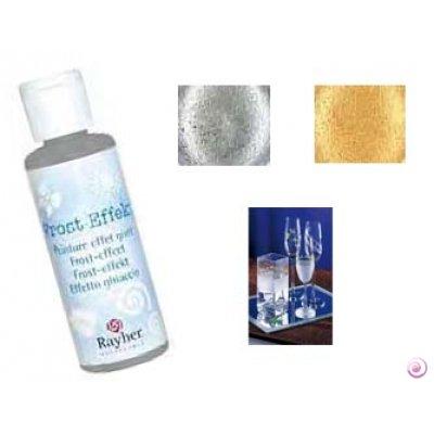 Rayher Hobby 38100102 Frost-Effekt-Farbe, Flasche 50 ml, weiß