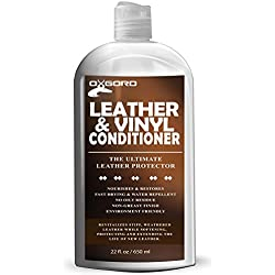 OxGord Leather Conditioner - 22oz Kit Restores Leather Vinyl Surface Lotion Cleaner Protector Moisturizer Care Treatment for Car Seat Furniture Shoe Boot Polish Upholstery Jackets Coat Handbags Sofa Purses
