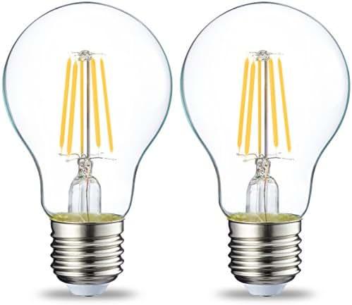 AmazonBasics Ampoule LED E27 A60 avec culot à vis, 4W (équivalent ampoule incandescente 40W), transparent avec filament -