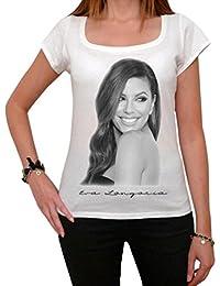 Eva Longoria, tee shirt femme, imprimé célébrité,Blanc, t shirt femme,cadeau