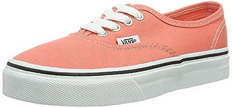 Vans Authentic, Basket mode mixte enfant - Noir (Fusion Coral/True White) 30.5 EU