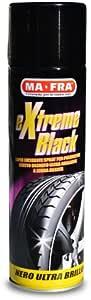 Mafra, Extreme Black, Nero Gomme Spray Ultra Brillante, con Effetto Bagnato, Previene le Screpolature, Resistente a Pioggia e Lavaggi Frequenti, Formato 500ml