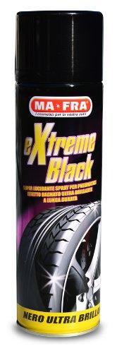 Mafra, Extreme Black, Nero Gomme Spray Ultra Brillante, con Effetto Bagnato, Previene le Screpolature, Resistente a Pioggia e Lavaggi Frequenti, Formato 500m