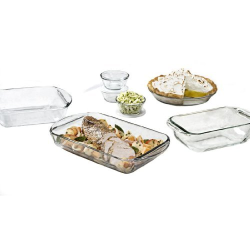 Anchor Hocking Fire King 10 Piece Glass Bakeware Set by Anchor Hocking
