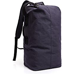 MUFUBU Presents Multifunctional Hiking Canvas Travel Luggage Backpack with Large Capacity Design by Kaka - Blue