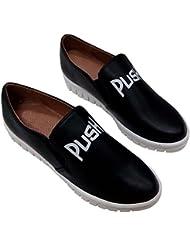 Hengfeng cuero Flatform de la Moda Casual zapatillas zapatos mujer 6075-70