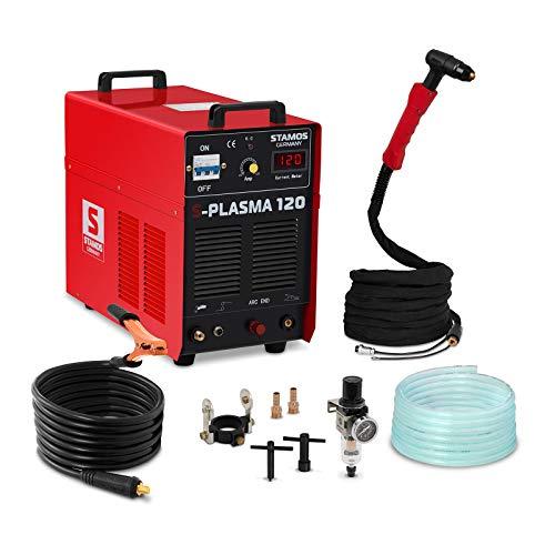 Stamos Germany - S-PLASMA 120 - Plasmaschneider CUT 120-400 V - max. 120 A - ED 60{2d7eba3b3d89a47da90ba53b65c0bda9d06a1fd5bda37cfa079acd4b34333a90} - HF - 38,2 kg
